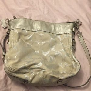 AUTHENTIC Coach Purse metallic silver